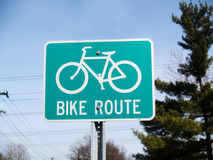 Bike Route Stock Photography