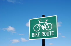 Bike Route Royalty Free Stock Images