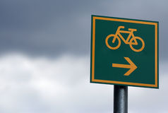 Bike route Stock Images