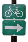 Bike route sign Stock Photo