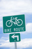 Bike Route Sign Royalty Free Stock Images