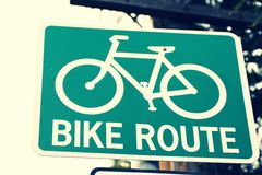 Bike route signs Stock Images