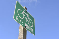 Bike Route Street Sign Stock Images