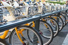 Bike's parking Stock Photography
