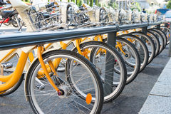 Bike's parking Royalty Free Stock Photography