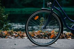 Bike's wheel Royalty Free Stock Photography