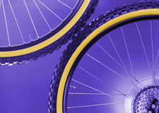 Bike's wheels Stock Image