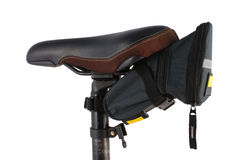Bike saddle and carry bag Royalty Free Stock Images