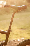 Bike saddle and wheel Stock Images