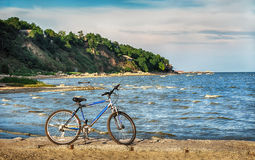 Bike on the sea coast Royalty Free Stock Photography