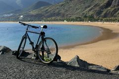 Bike by the sea Royalty Free Stock Photography