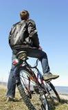 Bike at the sea. Royalty Free Stock Image