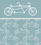 Bike seamless pattern. bicycle Tandem texture. Ornament of wheel Stock Images