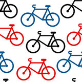 Bike seamless pattern Royalty Free Stock Photo