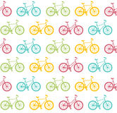Bike Seamless Pattern White. Vector Stock Images