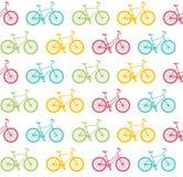 Bike Seamless Pattern White. Vector Stock Images