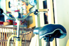 Bike seat. Soft focus with vintage film filter Royalty Free Stock Photography