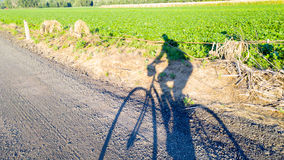 Bike Selfie on farm road Stock Images