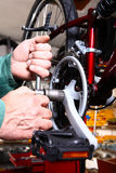 Bike service Royalty Free Stock Photography
