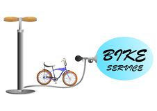 Bike service Royalty Free Stock Photo