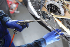 Bike service. Royalty Free Stock Photography