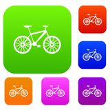 Bike set collection. Bike set icon in different colors isolated vector illustration. Premium collection Royalty Free Stock Image