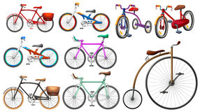 Bike set on white Stock Photo