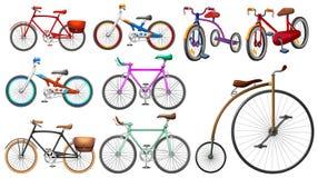 Bike set on white Stock Photo