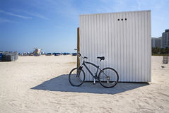 Bike in Shaded Sand Royalty Free Stock Photos