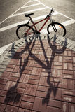 Bike and Shadow Royalty Free Stock Photography