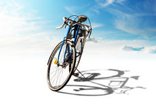 Bike with shadow Royalty Free Stock Images