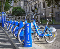 Bike Share, Public Transport, Melbourne, Australia Royalty Free Stock Photos