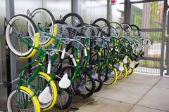 Bike Share Racks at University of Oregon Stock Images