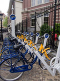 Bike share in Utrecht Stock Photo