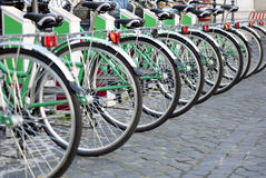 Bike sharing Royalty Free Stock Photos