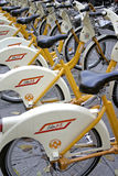 Bike sharing. In the municipality of Milan in Italy royalty free stock photo