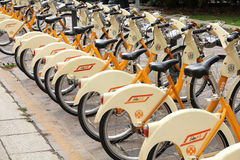 Bike sharing stock images