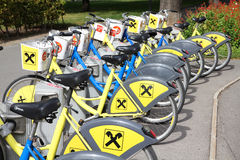 Bike sharing Royalty Free Stock Photography