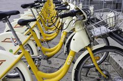 Bike sharing for a better life Stock Image
