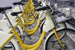 Bike sharing for a better life Royalty Free Stock Photo