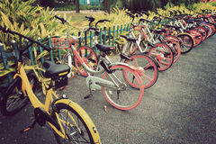 Bike sharing in china Stock Photography