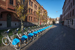 Bike sharing in Gothenburg, Sweden Royalty Free Stock Photography