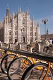 Bike sharing in Milan Royalty Free Stock Photo
