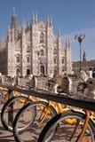 Bike sharing in Milan royalty free stock photo