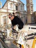 Bike sharing, Milan, Italy Royalty Free Stock Image