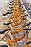 Bike sharing in Milan Royalty Free Stock Image