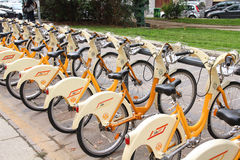 Bike sharing network Stock Photo