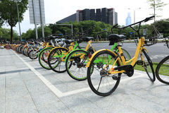 Bike-sharing in china. Bike-sharing at public in china Stock Images