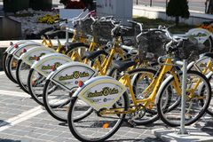 Bike sharing in Romania Royalty Free Stock Images