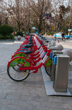 Bike sharing scheme in China Stock Images